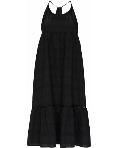 Хлопковое платье миди - черное Heidi Klein