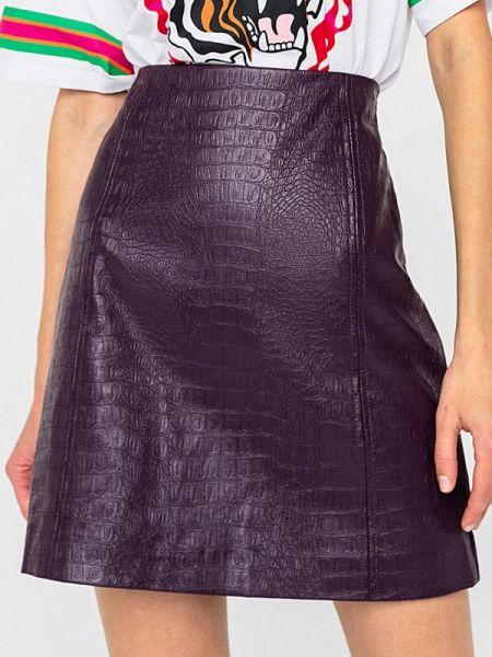 Кожаная юбка фиолетовый свободного кроя Befree