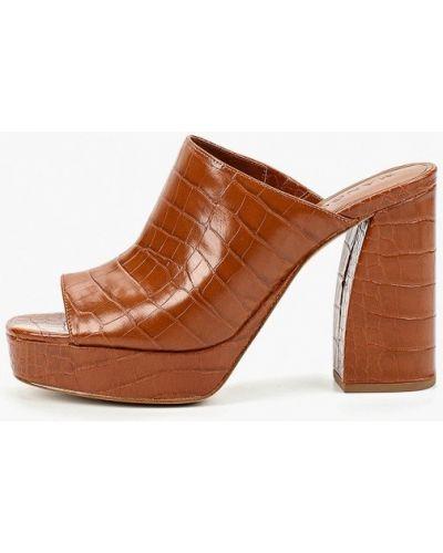 Сабо кожаные на каблуке Mango