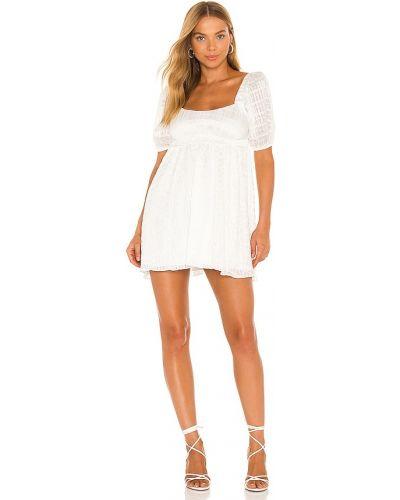 Платье мини с люрексом - белое Majorelle