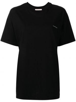 T-shirt z printem - czarna Christopher Kane