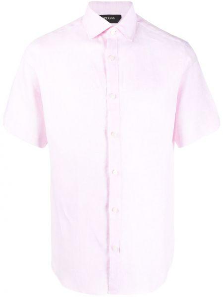 Koszula krótkie z krótkim rękawem z kołnierzem bielizna Z Zegna