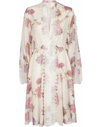 Шелковое платье миди - белое Giambattista Valli