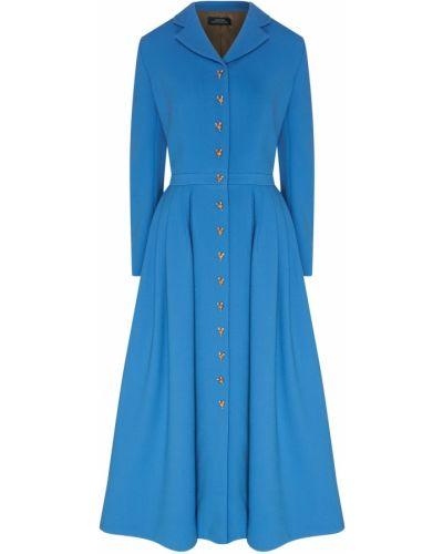 Шерстяное платье - синее Alena Akhmadullina