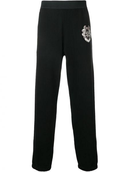 Черные спортивные брюки с карманами с манжетами Roberto Cavalli