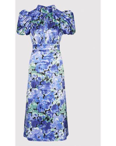 Fioletowa sukienka koktajlowa Rotate