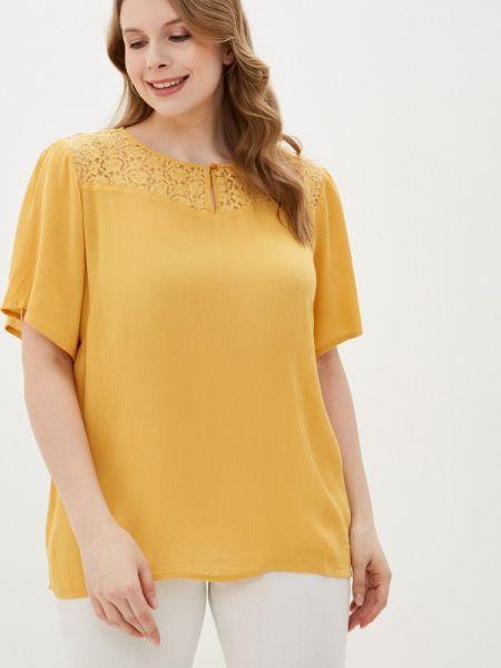 Блузка с коротким рукавом весенний желтый Junarose