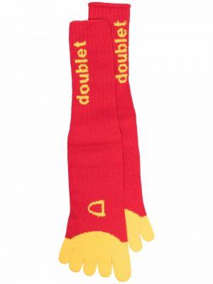 Prążkowane żółte skarpety bawełniane Doublet