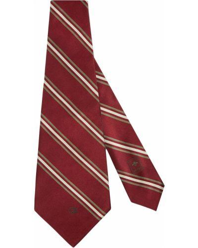 Krawat w paski z jedwabiu z haftem Gucci