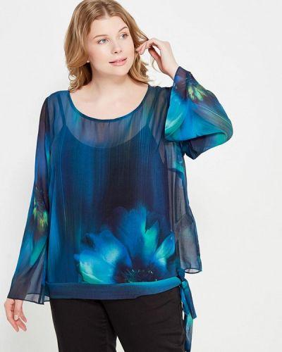 Блузка с длинным рукавом синяя весенний Fiorella Rubino