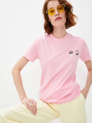 Футболка с короткими рукавами - розовая Chiara Ferragni Collection