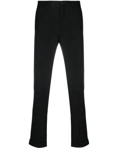 Czarne spodnie wełniane z paskiem Comme Des Garcons Homme Plus