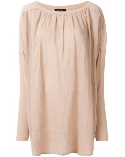 Блузка розовая свободного кроя Pas De Calais