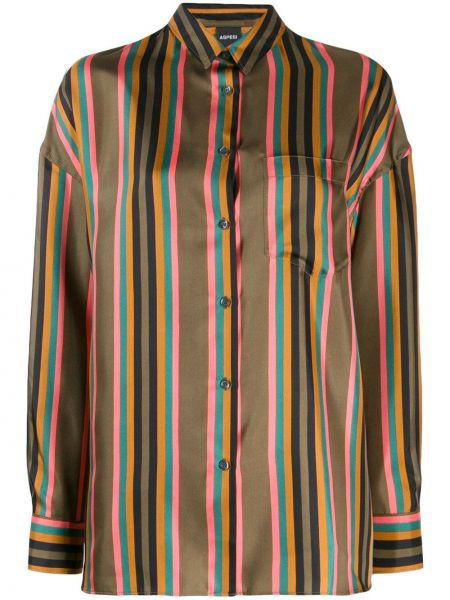 Рубашка с длинным рукавом в полоску на пуговицах Aspesi