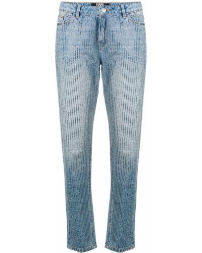 Джинсы со стразами синие Karl Lagerfeld