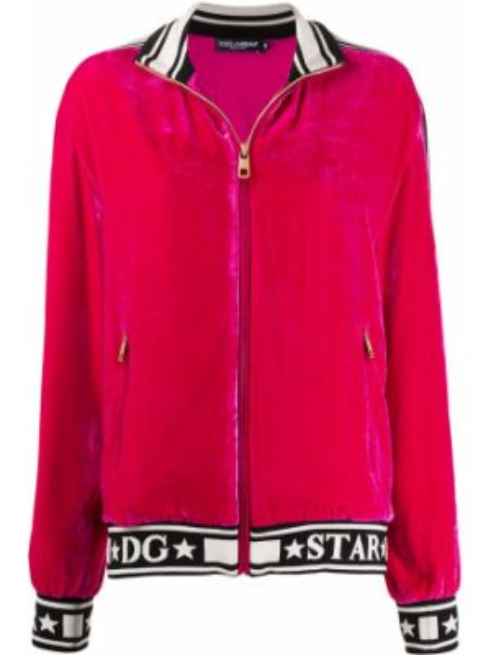 Спортивная куртка розовая на молнии Dolce & Gabbana