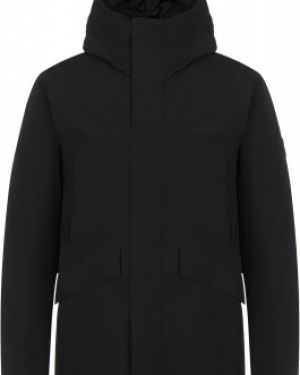 Зауженная черная утепленная куртка на молнии с карманами Merrell