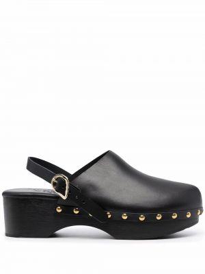 Czarne klapki skorzane Ancient Greek Sandals