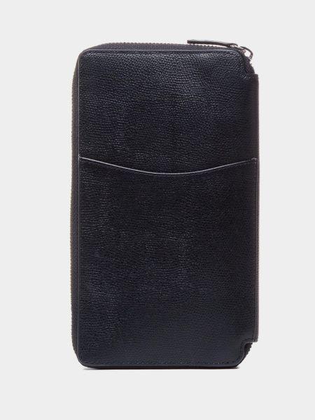 Черный кожаный кошелек на молнии Tommy Hilfiger