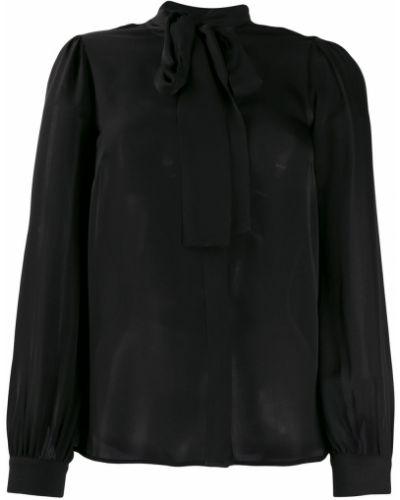 Блузка с длинным рукавом в полоску с воротником-стойкой Michael Kors Collection
