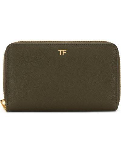 Кожаный кошелек на молнии для монет Tom Ford