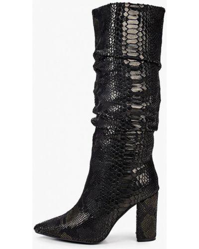 Текстильные черные сапоги Ideal Shoes®