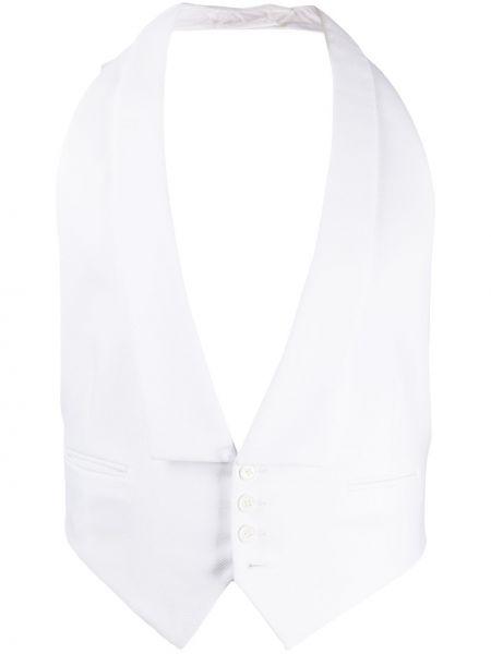 Bawełna bawełna biały klasyczny kamizelka z klapami Ralph Lauren