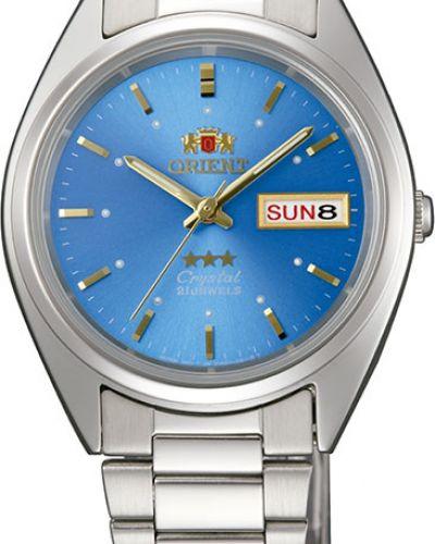 Часы механические водонепроницаемые серебряный Orient