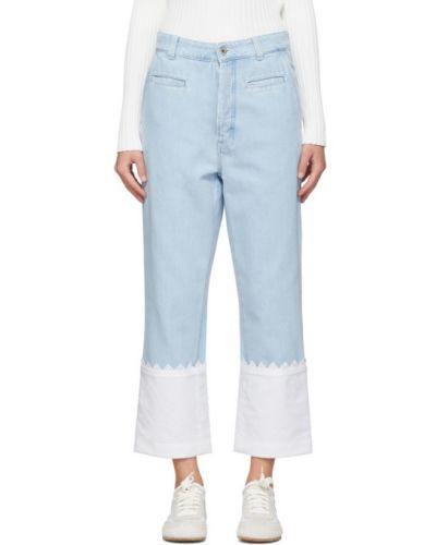 Прямые джинсы с вышивкой стрейч Loewe