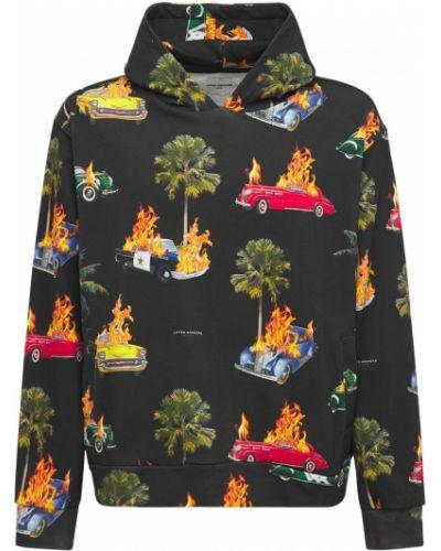 Czarna bluza z nadrukiem z printem Lifted Anchors