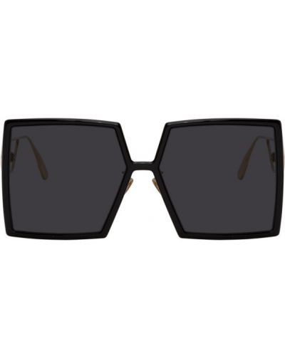 Черные солнцезащитные очки квадратные металлические Dior