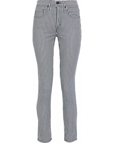 Синие зауженные джинсы-скинни в полоску Nili Lotan