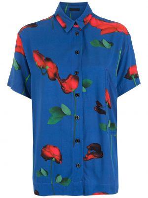 Рубашка с коротким рукавом - синяя Osklen