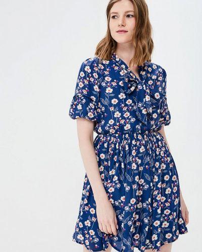 Платье итальянский синее Rinascimento