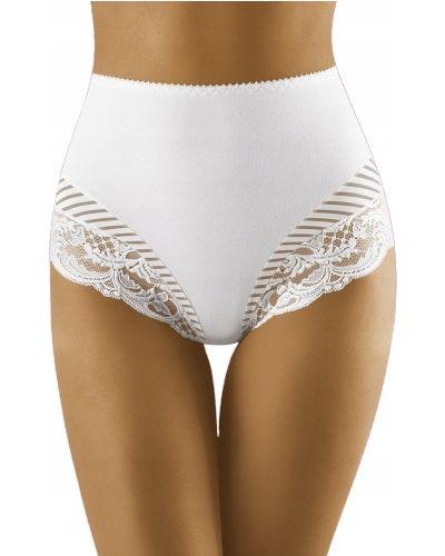 Białe majtki koronkowe bawełniane Wolbar