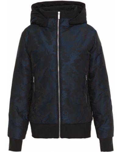 Niebieska kurtka z kapturem w paski Fusalp