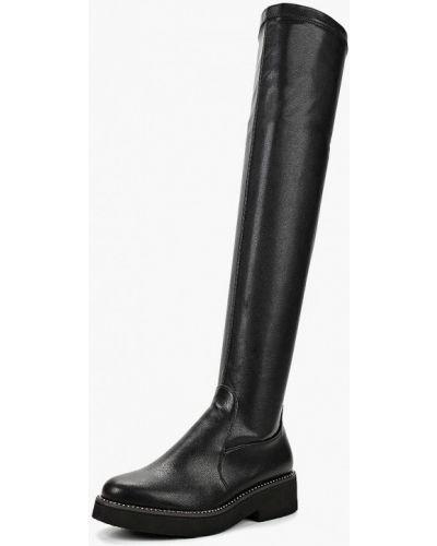 Ботфорты на каблуке кожаные Grand Style
