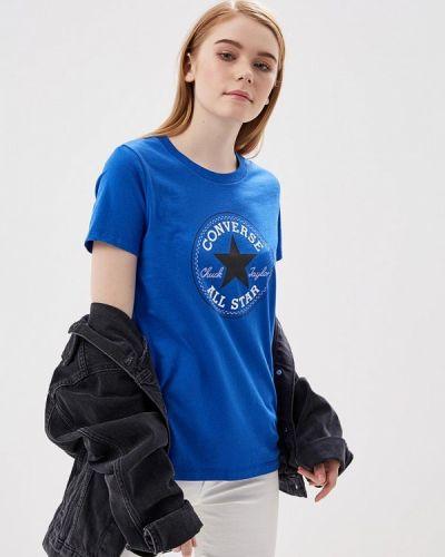 Синяя футболка Converse