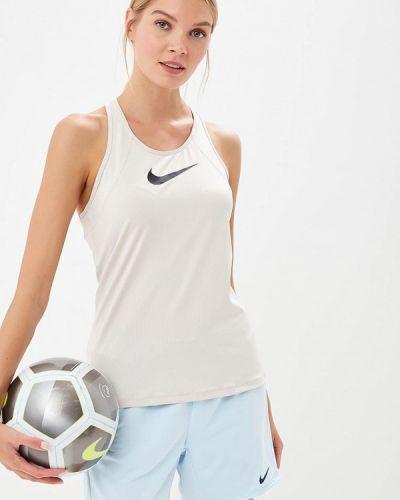 Бежевая майка спортивная Nike