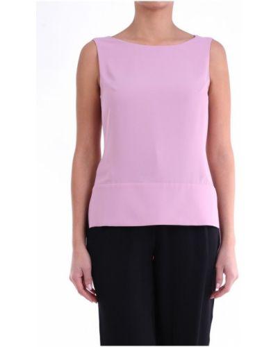 Różowa koszulka bez rękawów Maesta