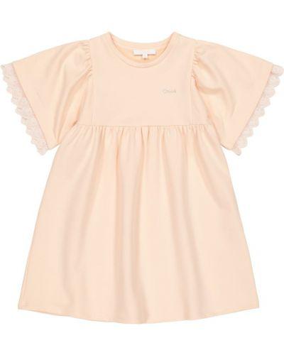 Różowa sukienka bawełniana Chloã© Kids