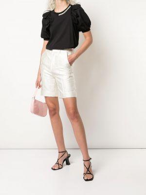 Деловые хлопковые белые шорты Shushu/tong