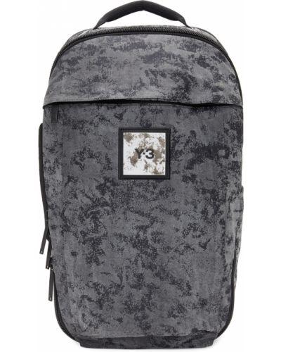 Czarny plecak na laptopa na rzepy z nylonu Y-3