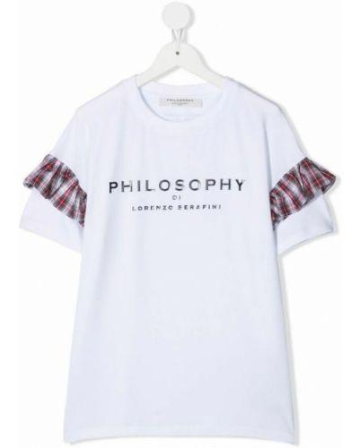 Biała t-shirt Philosophy Di Lorenzo Serafini