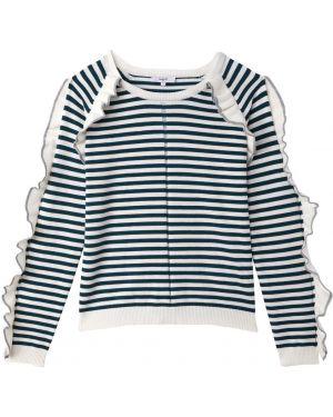 Пуловер в полоску длинный Suncoo