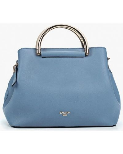 Синяя кожаный сумка Dune