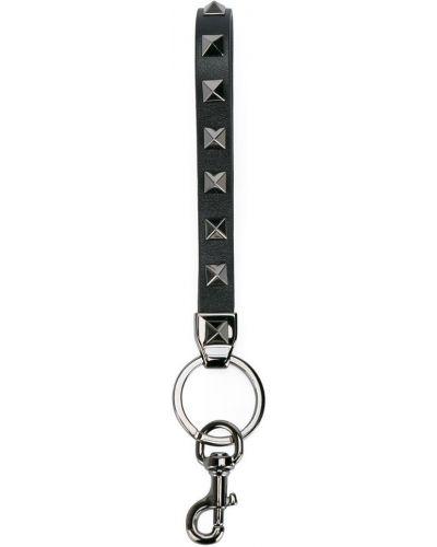 Брелок черный с декоративной отделкой Valentino