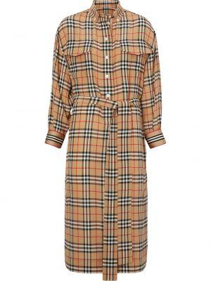 Платье макси в полоску винтажная Burberry