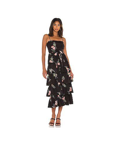 Черное платье с подкладкой с оборками Likely