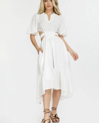 Белое зимнее платье Clever Woman Studio